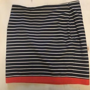 Ann Taylor Navy and Orange Striped Skirt